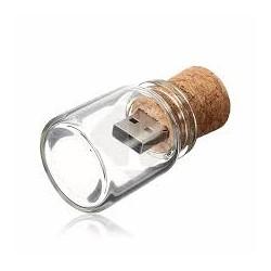 USB BOTE CRISTAL CORCHO...