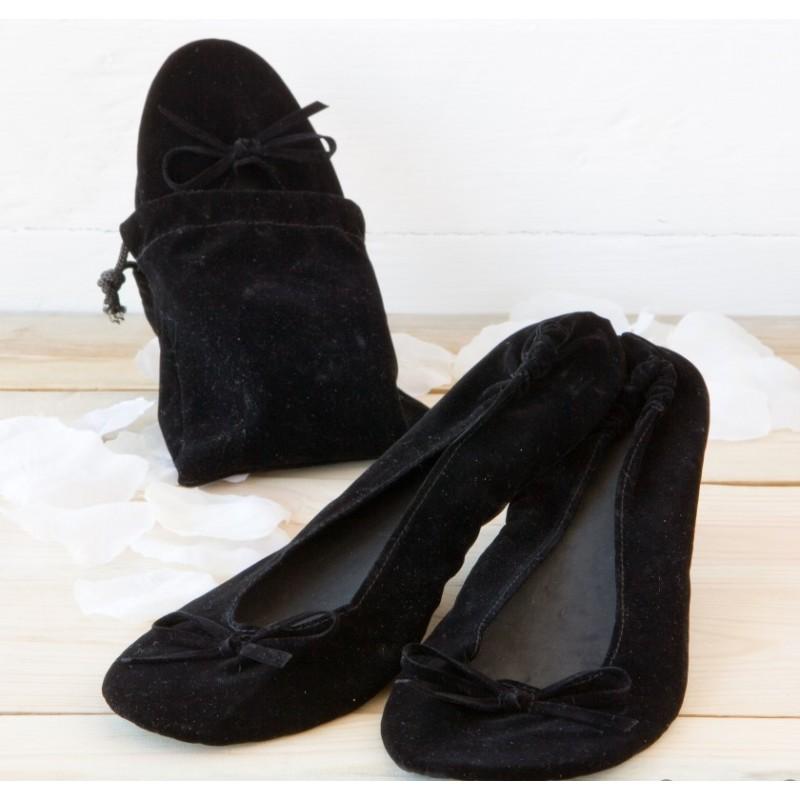 Bailarinas terciopelo negras