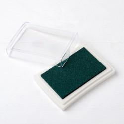 Almohadilla de tinta verde...