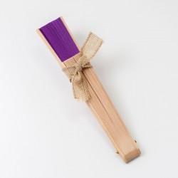 Abanico madera natural y...