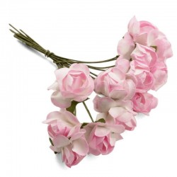 Flores de Papel Adornos rosa