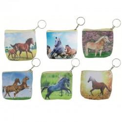 Llavero monedero caballos