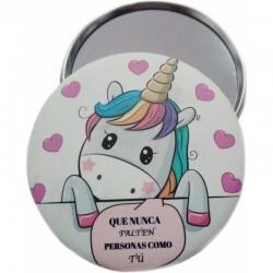 Espejito unicornio con frase