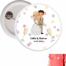 Chapas personalizadas bodas...