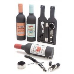 Set botella vino frases