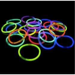 Lote 100 pulseras luminosas