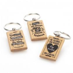 Llavero madera frases boda