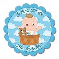 Adhesivo Decorativo Bebé Azul