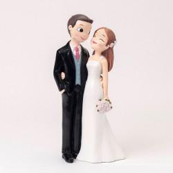 Figura pastel novios amorosos