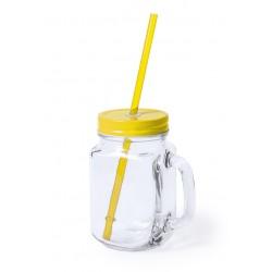 Jarra de Cristal Amarilla