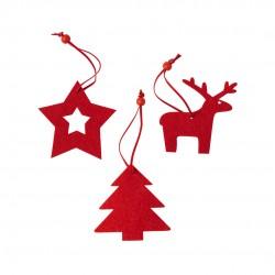 Set de 3 figuras navideñas