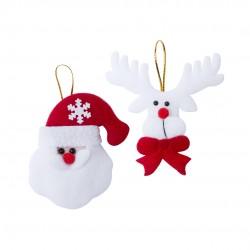Set adornos navideños 2 piezas