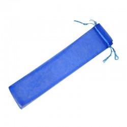 Bolsas Abanicos Organza Azul